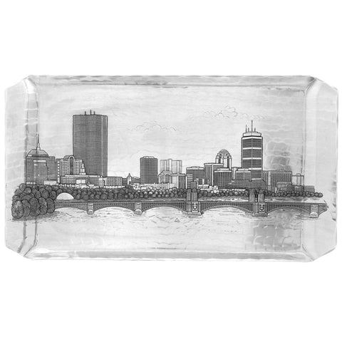 Boston Skyline Hostess Tray by Wendell August