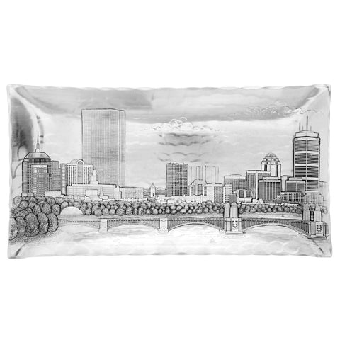 Boston Skyline Small Hudson Tray by Wendell August