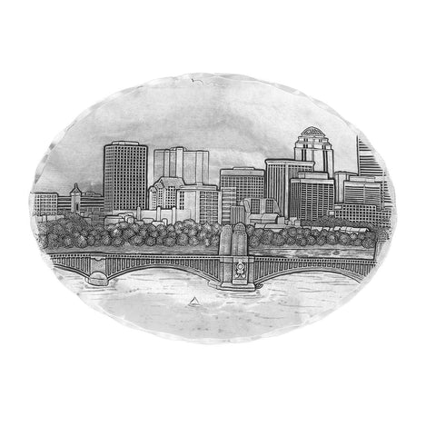 Boston Skyline Small Oval Dish by Wendell August