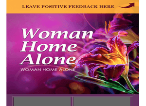 Woman Home Alone Sexy Purple Layout