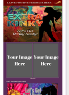 Extra Kinky Flowers and Purple Layout