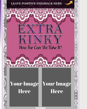 Extra Kinky Grey and Pink Layout
