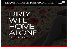 Dirty Home Alone Woman Layout