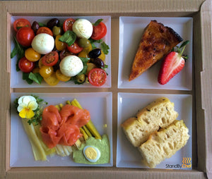 Luxury Boardroom Lunch Food tray
