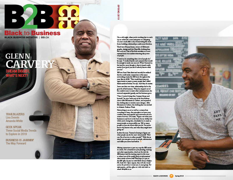 Duane Featured In The Spring 2019 Issue Of Black to Business