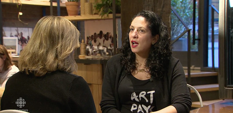 Eman El-Husseini in Art Pays Me on CBC