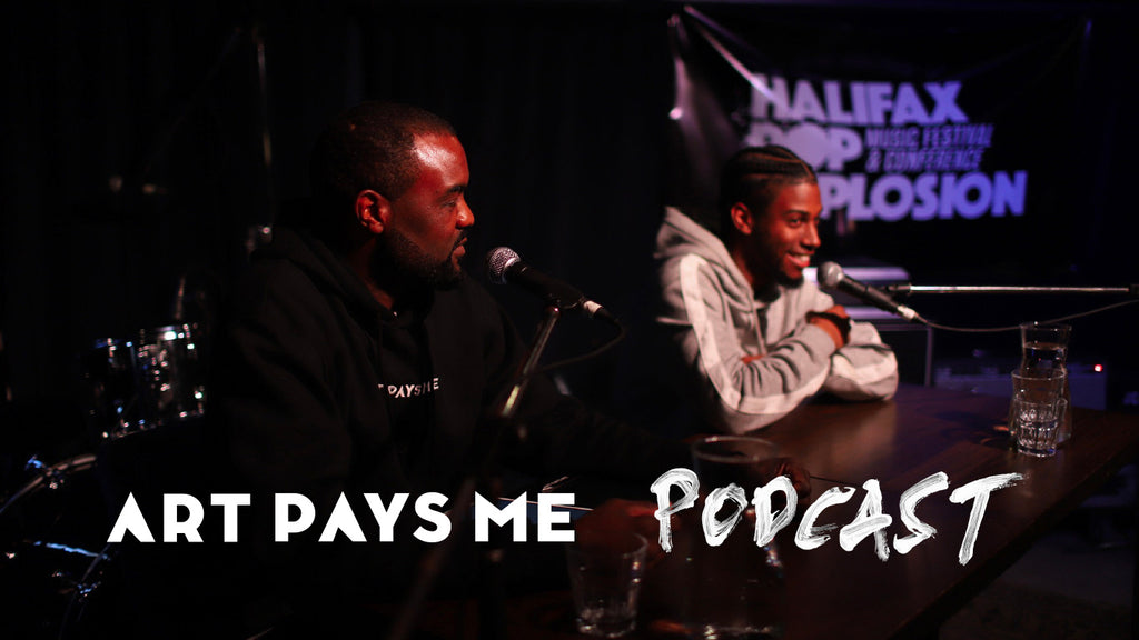 Maje and Duane for the Art Pays Me Podcast