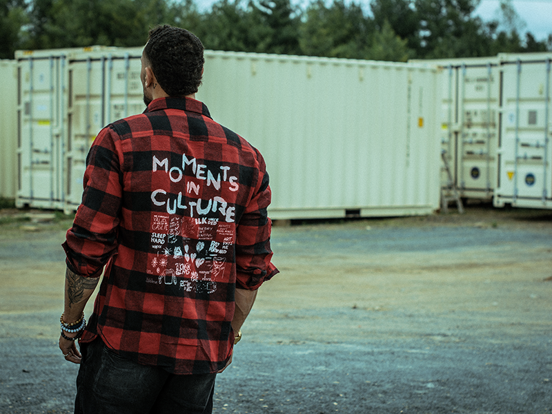 Moments Flannel worn by Tyree