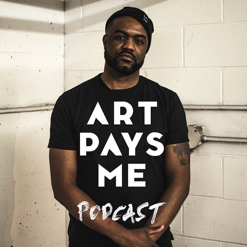 Art Pays Me Podcast cover featuring, host Duane Jones. Photo by Alex Pearson.