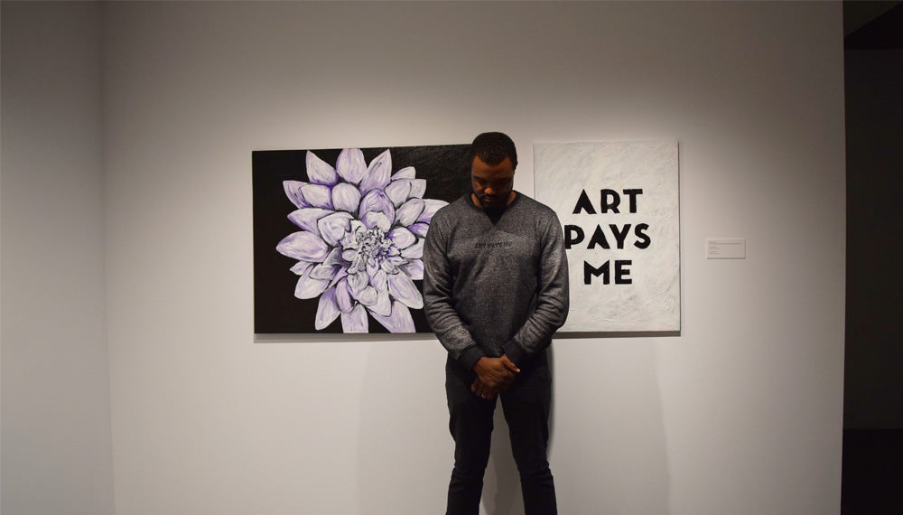 Duane Jones at the 64th Annual Student, Staff, Faculty, and Alumni Exhibition
