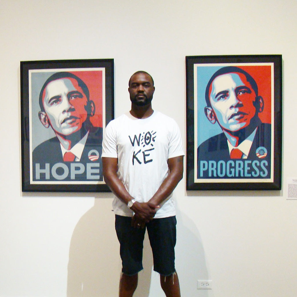 Shepard Fairey Hope and Progress