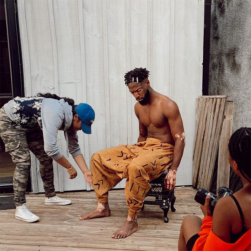 Perri Styling Backyard Bwoy shoot for Flanelle Magazine in 2019