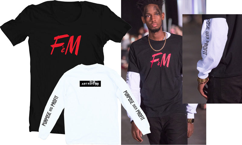 Fuck H&M Tee and Purpose Profit Long Sleeve Tee White