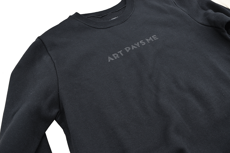Art Pays Me Sweater, Black