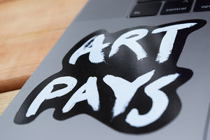 Art Pays Sticker