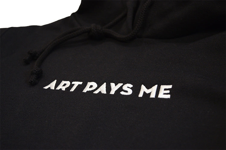 Embroidered Logo Hoodie, Black