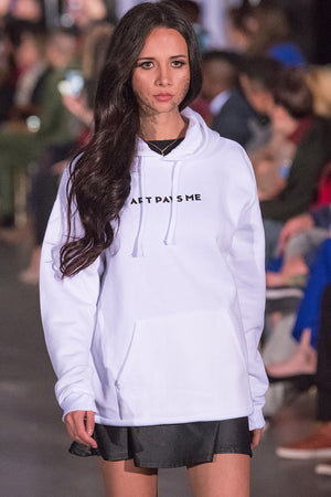 Logo Hoodie, White worn by Carolina Mancipe during Atlantic Fashion Week
