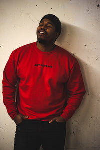 Logo Sweater, Red