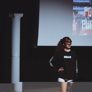 Purpose Profit Long Sleeve T-Shirt Black at Moments In Culture, shot by Aaron Downey.