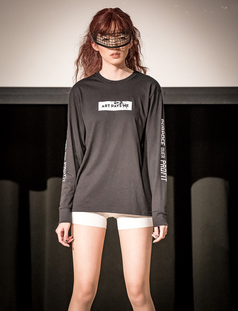 Purpose Profit Long Sleeve T-Shirt Black at Moments In Culture, shot by Lens Method.