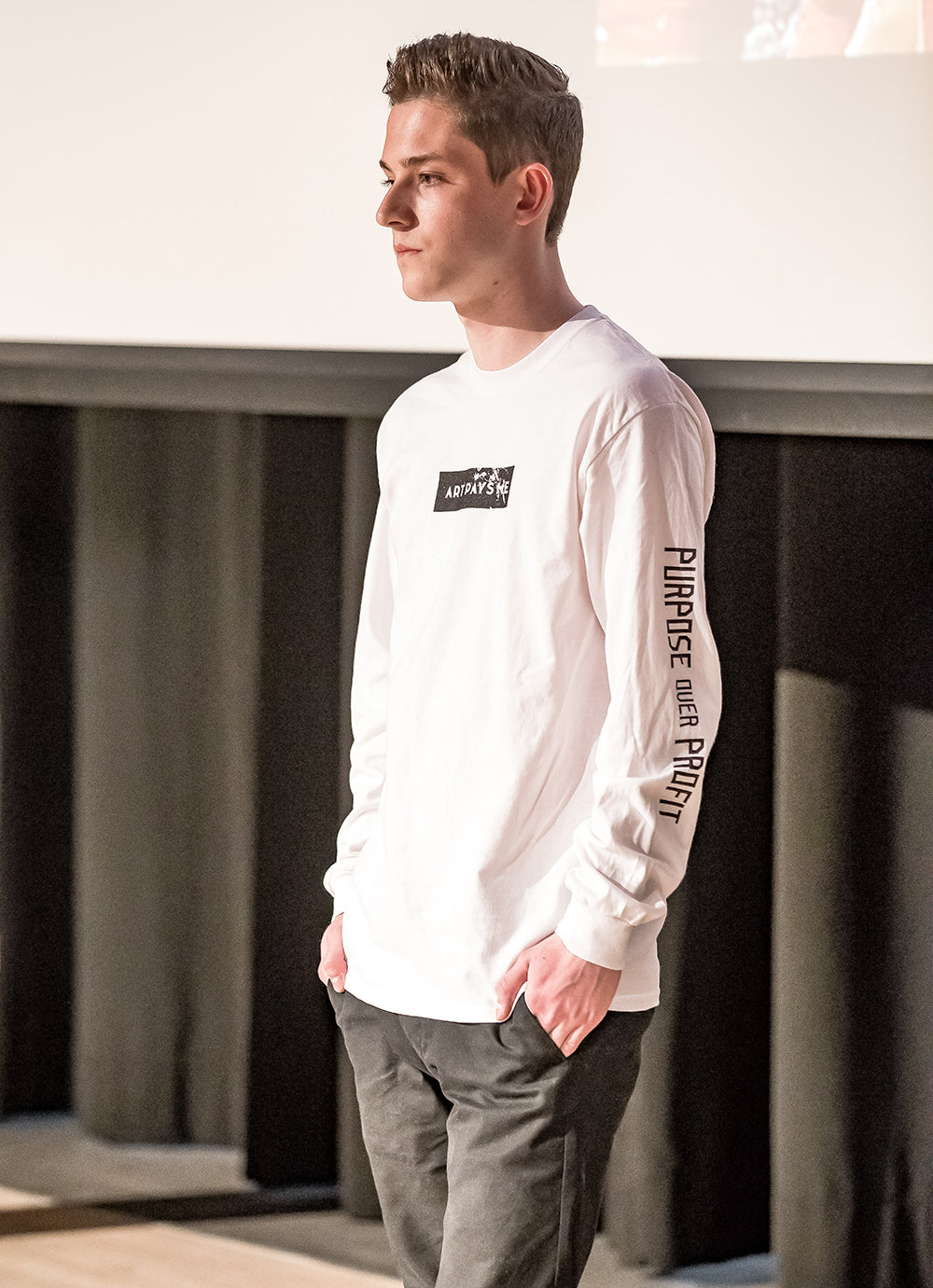 Purpose Profit Long Sleeve T-Shirt White