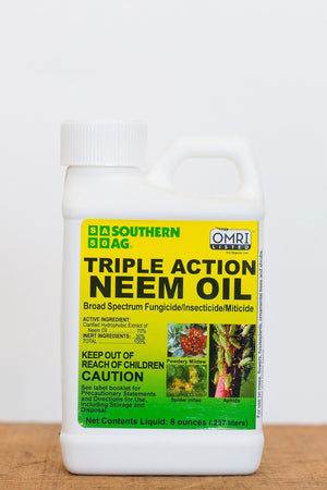 Triple Action Neem Oil Broad Spectrum Organic Fungicide (8 oz)