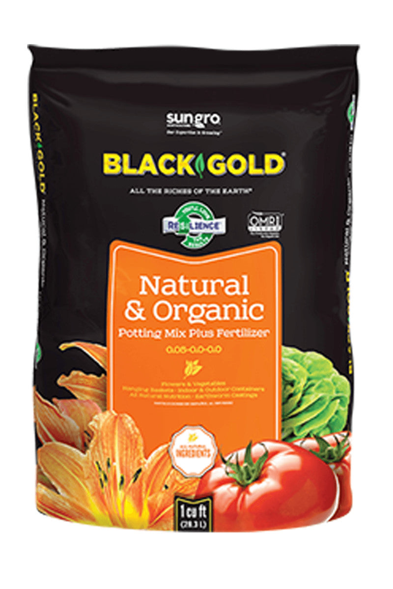 Black Gold Natural & Organic Potting Mix 0.05 - 0.0 - 0.0, 2 CF