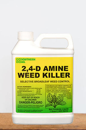 Southern Ag 2, 4 - D Amine Weed Killer, 1 Quart Size: 1 Quart
