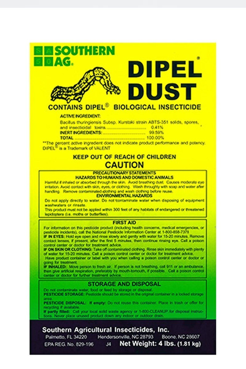 Southern Ag Dipel Dust Biological Insecticide, 4 LB