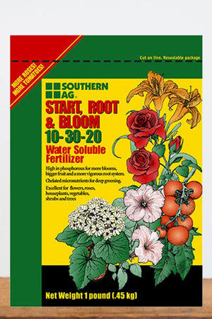 Southern Ag Start Root & Bloom Water Soluble Fertilizer 10-30-20, 1 LB
