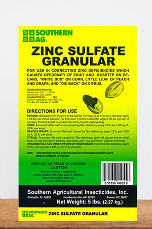Southern Ag Zinc Sulfate Granular, 5 LB