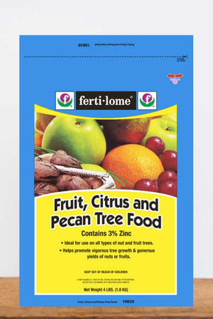 Fertilome Fruit, Citrus & Pecan Tree Food 19-10-5 (trace elements, nutrients for tree growth), 4 LB
