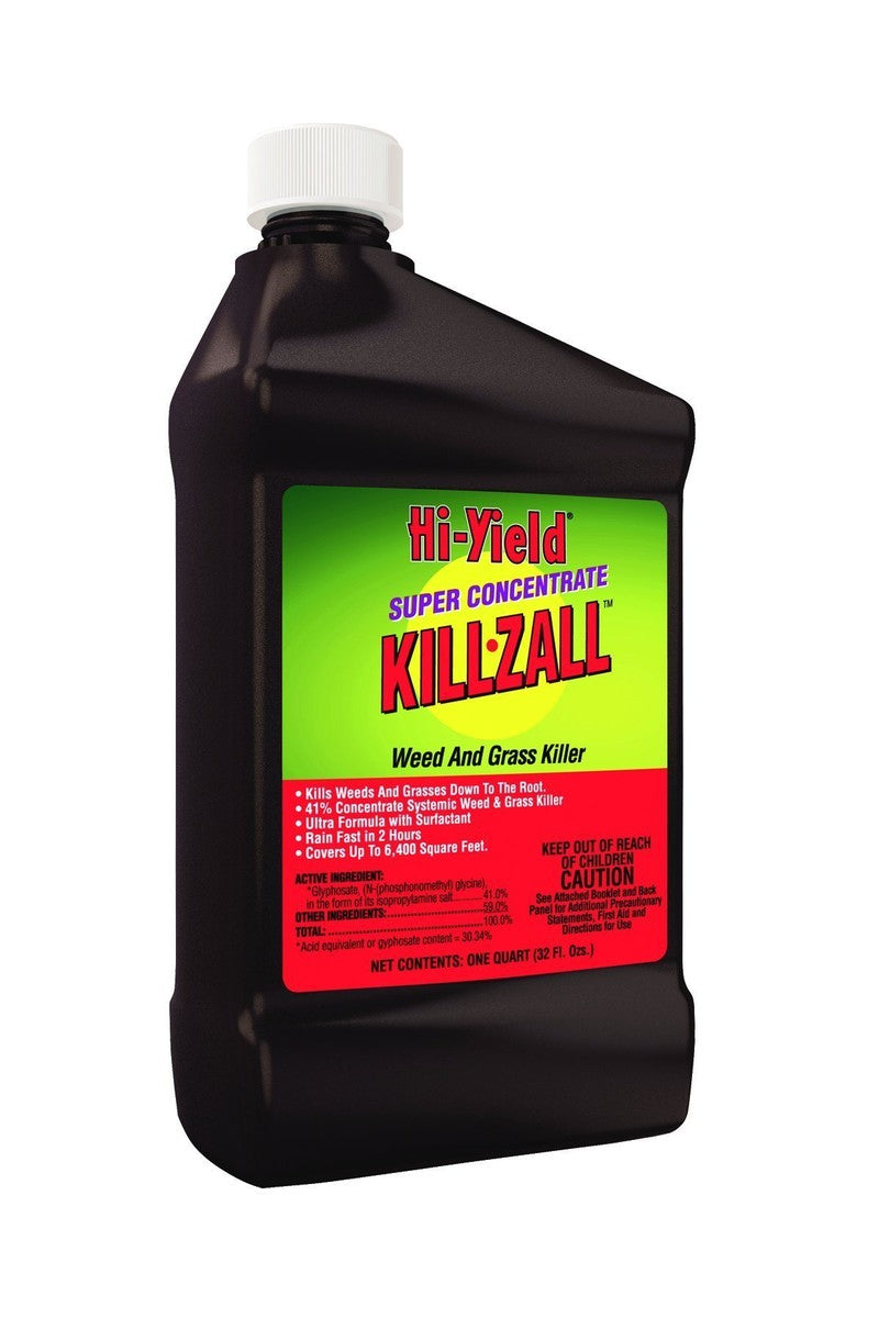 Hi-Yield Super Concentrate Fast Drying Works Quickly Killzall Weed & Grass Killer, 1 Gallon