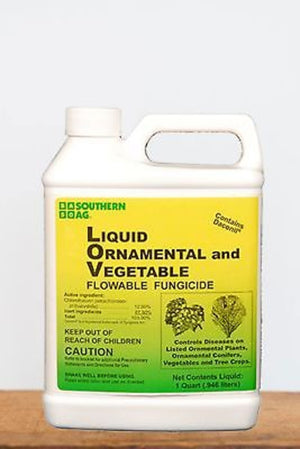 Southern Ag Liquid Ornamental, Tree & Vegetable Fungicide, 1 Quart Size: 1 Quart