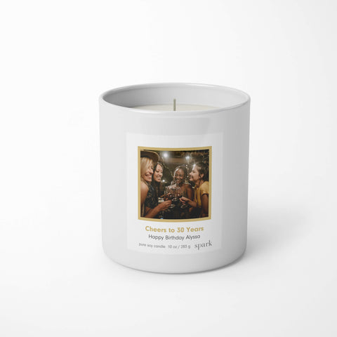 Custom Soy Candles - Add Your Photo and Message to the Label