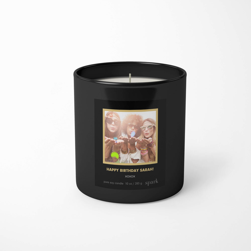 Custom Birthday Gift - Upload Photo to Candle Label