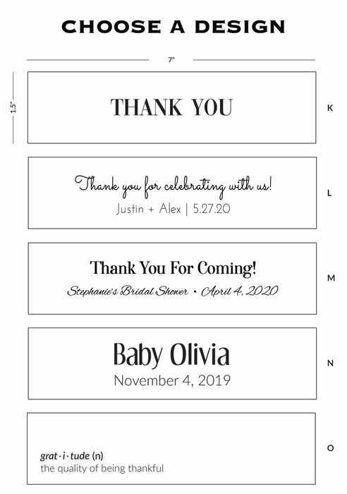 Custom Candle Favors Design Options - Bridal, Baby Shower, Gratitude, Wedding, Thank You Gifts