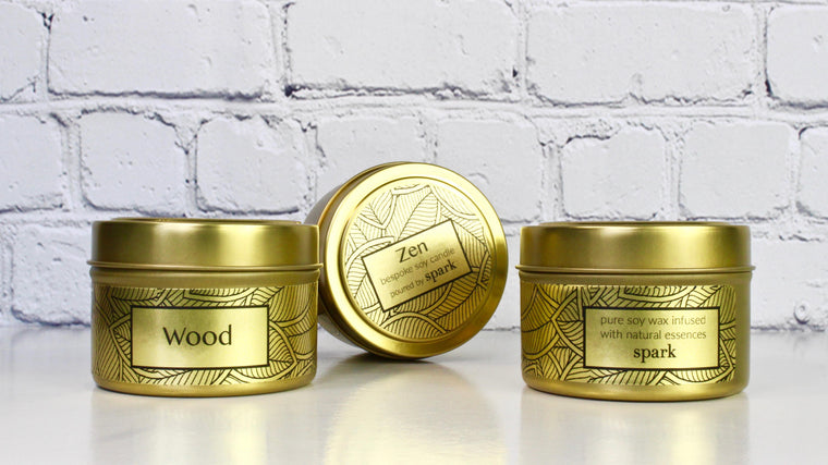 Signature Gold Tin Candle