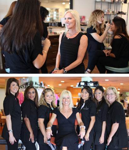 Kay Casperson with spa and salon team, Captiva, Sanibel
