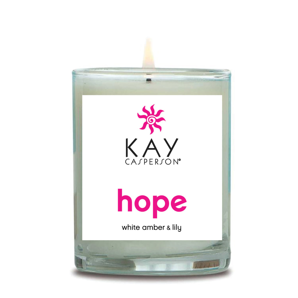 Hope (White Amber + Lily) Soy Candle