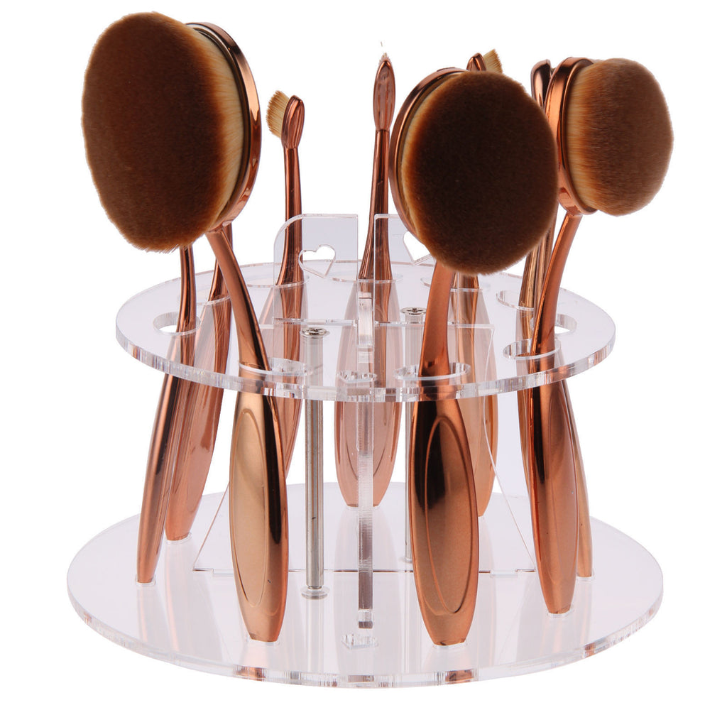 Clear Round Acrylic Make Up Brush Holder