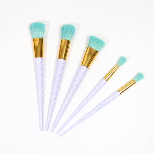 Blue Unicorn 5 piece brush set
