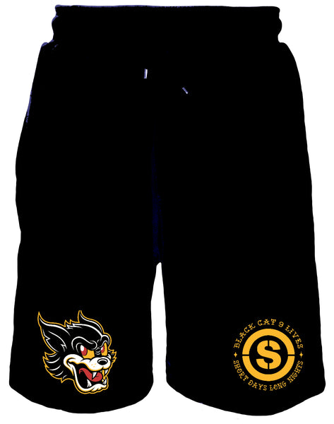 9 Lives Sweat Shorts (Black)