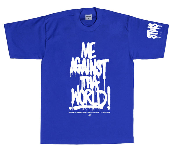 Against The World T-Shirt (Royal)
