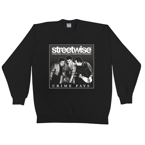 Crime Pays Crewneck (Black)