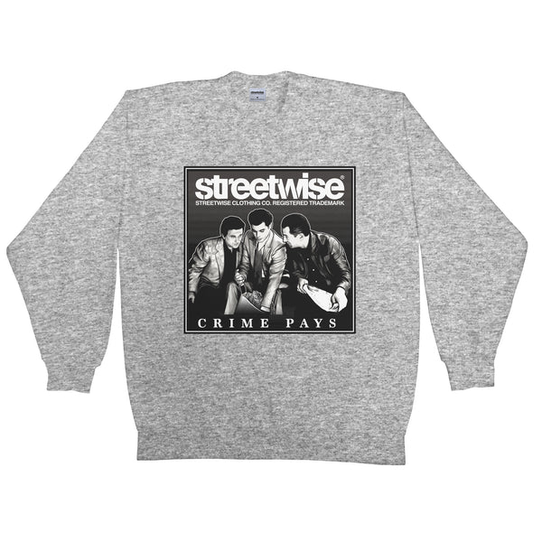 Crime Pays Crewneck (Grey)