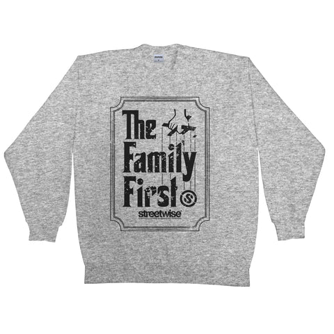 Family First Crewneck (Grey)