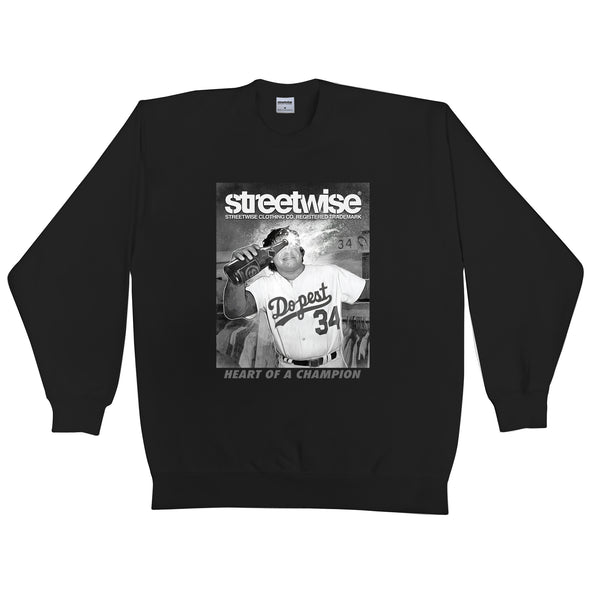 Heart Champion Crewneck (Black)