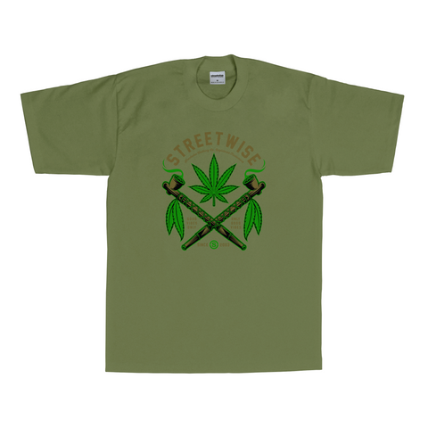 Peace Pipes T-Shirt (Olive)