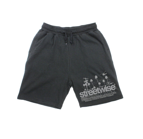 Streetscape Sweat Shorts (Black)